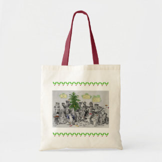 Vintage Louis Wain Cats Christmas Party Tote Bag