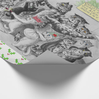 Vintage Louis Wain Cats Christmas Party Wrapping Paper