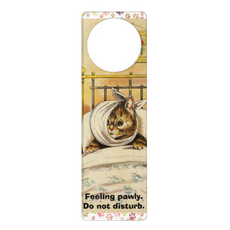 Vintage Louis Wain Do Not Disturb Kitty Hanger Door Hangers