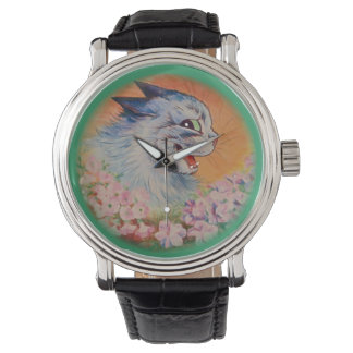 Vintage Louis Wain Flowers For You Cat Art Watch