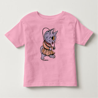 Vintage Louis Wain Skipping Cat Girl T-Shirt