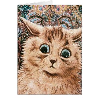 Vintage Louis Wain Wallpaper Cat Card