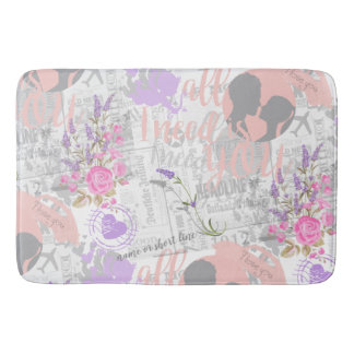 Vintage Love, All I Need is You Bath Mat