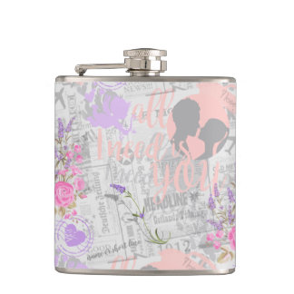 Vintage Love, All I Need is You Hip Flask