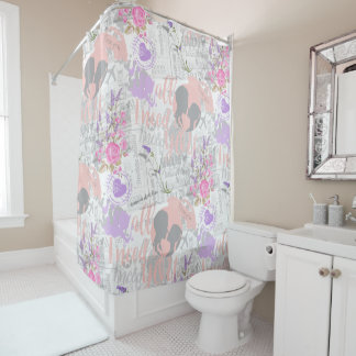 Vintage Love, All I Need is You Shower Curtain