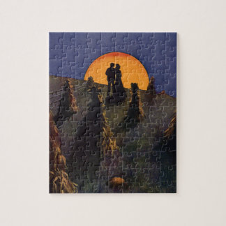 Vintage Love and Romance, Harvest Moonlight Jigsaw Puzzle