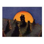 Vintage Love and Romance, Harvest Moonlight Postcard