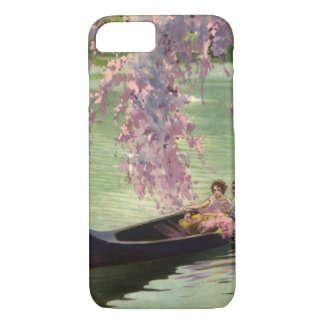 Vintage Love and Romance, Romantic Canoe Ride iPhone 7 Case