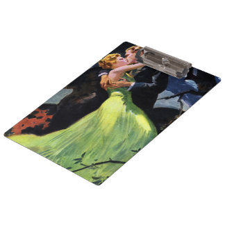 Vintage Love and Romance, Romantic Kiss Clipboards