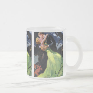 Vintage Love and Romance, Romantic Kiss Frosted Glass Mug