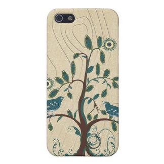 Vintage Love Bird Swirl Tree iPhone Case iPhone 5 Case