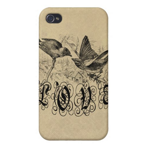Vintage Love Birds Apparel and Gifts iPhone 4/4S Cases