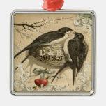 Vintage Love Birds Nest French Decor Wedding Date Ornament