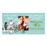 Vintage Love Birds Save the Date  Your Photo Photo Greeting Card