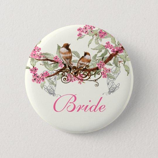 Vintage Love Birds Wedding Badges