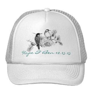 Vintage Love Birds Wedding Invitation Cap