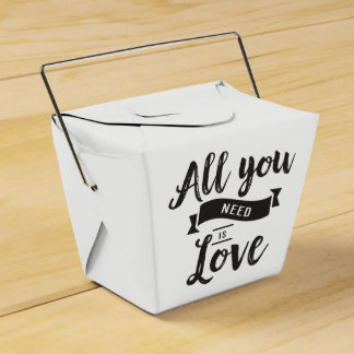 Vintage Love Black And White Wedding Party Favor Party Favour Boxes