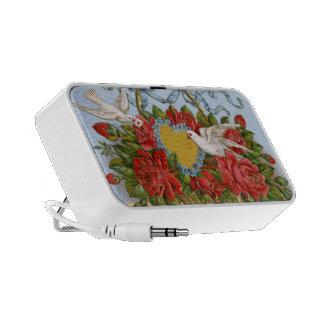 Vintage Love Floral Doodle Custom Speaker