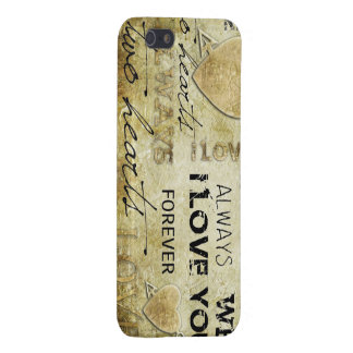 vintage love heart art iPhone 5/5S covers