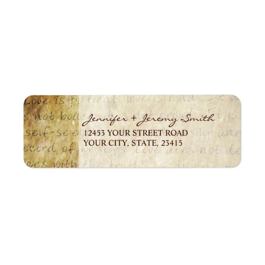 Vintage Love is Patient Return Address Label