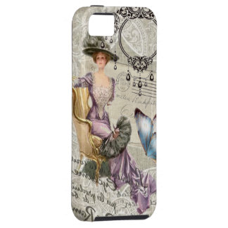 vintage love letter Vintage Paris Lady Fashion iPhone 5 Case