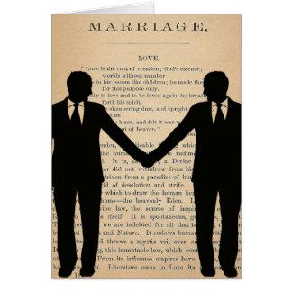 Vintage Love & Marriage Gay Wedding Longfellow Greeting Card