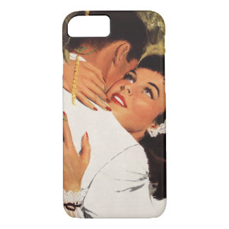 Vintage Love Romance, Couple in a Loving Embrace iPhone 7 Case