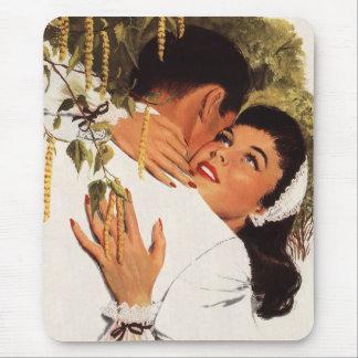 Vintage Love Romance Couple in a Loving Embrace Mousepad