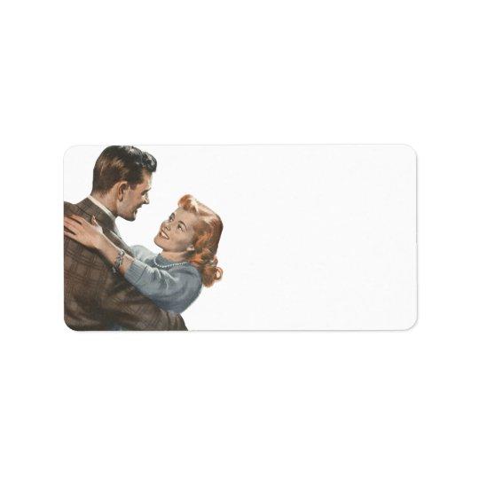 Vintage Love Romance Newlyweds Shall We Dance? Address Label