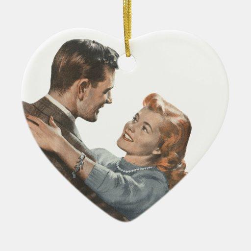 Vintage Love Romance Newlyweds Shall We Dance? Ornaments