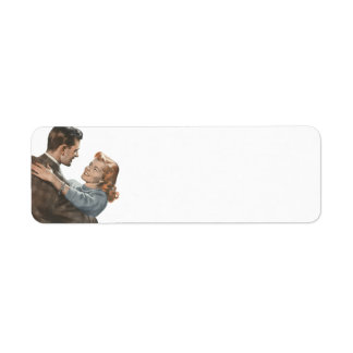 Vintage Love Romance Newlyweds Shall We Dance? Return Address Label