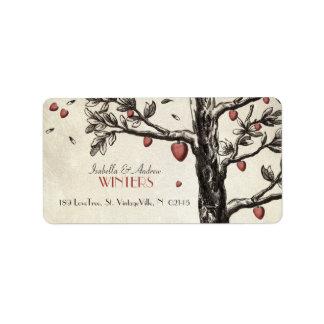 Vintage Love Tree Address Label