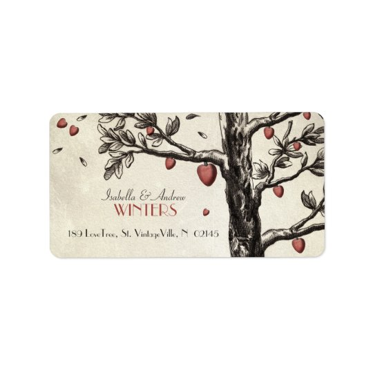 Vintage Love Tree Label