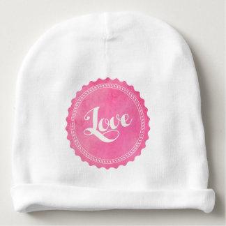Vintage love typography baby beanie