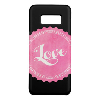 Vintage love typography Case-Mate samsung galaxy s8 case