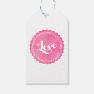 Vintage love typography gift tags