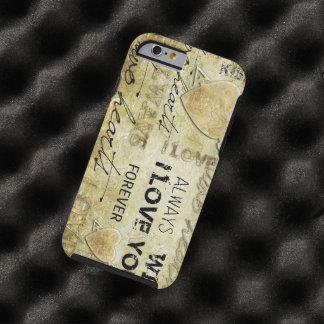 vintage love vector art tough iPhone 6 case