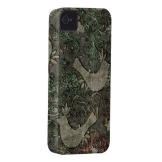 Vintage LoveBirds Embossed BlackberryBold 97009780 iPhone 4 Cover