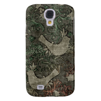 Vintage LoveBirds Embossed Print Case HTC Vivid Galaxy S4 Cover