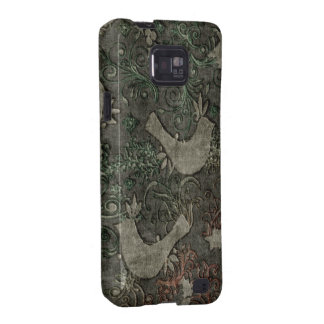 Vintage LoveBirds Embossed Print Samsung GalaxyS2 Galaxy S2 Cases