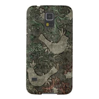 Vintage LoveBirds Embossed Samsung Galaxy Nexus Galaxy S5 Covers