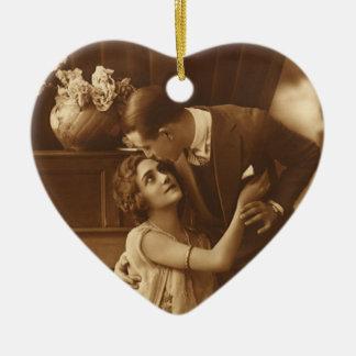 Vintage Lovers,  Love Romance Romantic Music Christmas Tree Ornaments