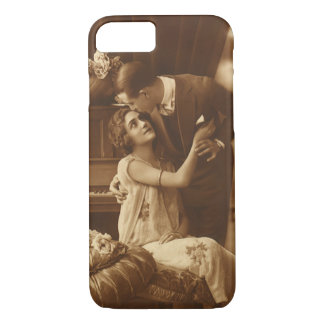 Vintage Lovers,  Love Romance Romantic Music iPhone 7 Case
