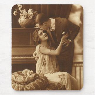 Vintage Lovers Love Romance Romantic Music Mouse Pads