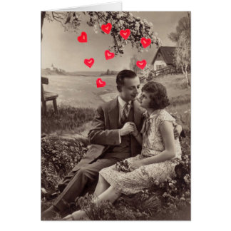 Vintage Lovers Valentine's Day Card