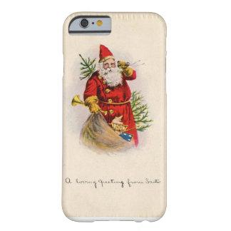 Vintage loving greetings from Santa iPhone case