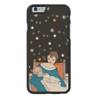 Vintage Loving Mother Baby Stars Mother's Day Carved® Maple iPhone 6 Slim Case