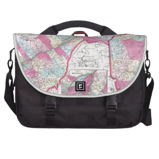 Vintage Lower Canada map Commuter Bags