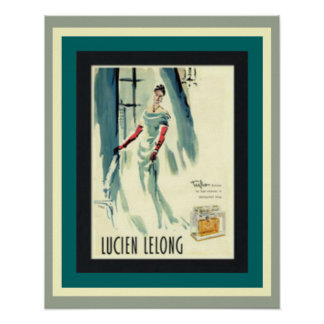 Vintage Lucien Lelong French Perfume Poster