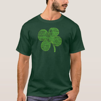 Vintage Lucky Four-Leaf Clover T-shirt